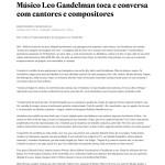 2016.03.19 - Estadão - Músico Leo Gandelman toca e conversa com cantores e compositores - Cultura - Estadão